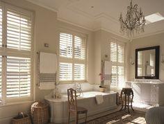 large bathroom tier on tier shutters image