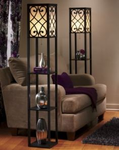 Eurico floor lamps with shelves
