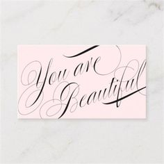 Beautiful Script Pink Hair and Beauty Salon Business Card - business template gifts unique customize diy personalize Salon Business Cards, Hairstylist Business Cards, Cool Business Cards, Lip Waxing, Hair And Beauty Salon, Glam Hair, Beauty Bar, Beauty Express, Standard Business Card Size