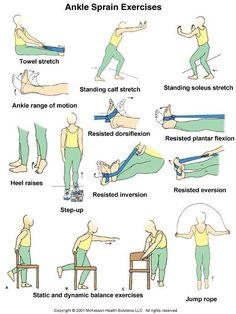 Ankle Rehab Exercises, Ankle Strengthening Exercises, Foot Exercises, Physical Therapy Exercises, Ankle Stretches, Sprained Ankle Exercises, Strengthen Ankles, K Tape, Isometric Exercises