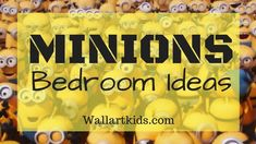 Minions bedroom ideas for your little minions! Check these out! Despicable Me Bedroom, Minion Bedroom, Bedroom Themes, Kids Bedroom, Bedroom Ideas, Queen Bed Quilts, Queen Beds, Art Wall Kids, Art For Kids