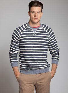 Splendid Mills Cotton Indigo Zander Raglan Shirt