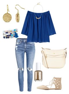 """Untitled #348"" by kmysoccer on Polyvore featuring H&M, MANGO, Essie, Nica, Stella & Dot, NAKAMOL, Miadora and Wild Diva"