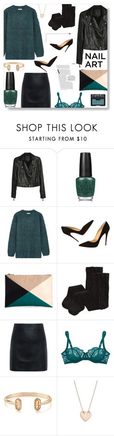 """""""nailed it"""" by serena ❤ liked on Polyvore featuring beauty, Paige Denim, OPI, See by Chloé, Christian Louboutin, Sole Society, H&M, McQ by Alexander McQueen, NARS Cosmetics and Deborah Marquit"""