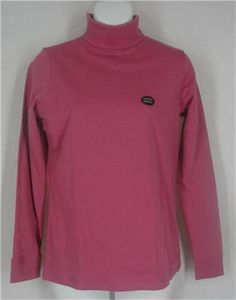 L.L. BEAN Top XS Rose Violet Long Sleeve Turtleneck Shirt Solid Cotton Pink #LLBean #KnitTop