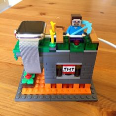 Everything is awesome with this Apple Watch stand made of LEGO - Apple Watch スタンド, Lego Display, Apple Watch Accessories, Lego Minecraft, Iphone Charger, Lego House, Everything Is Awesome, Homemade Crafts, Stop Motion