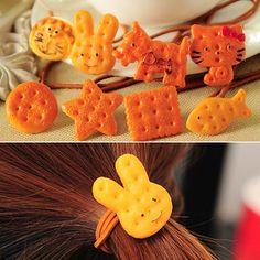 Печенька- резинка для волос