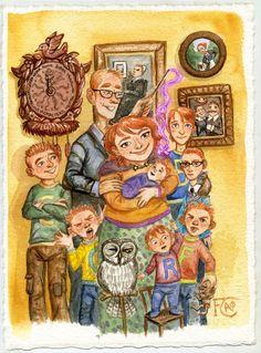 The Weasleys by Felicia Cano