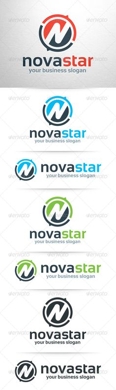 Novastar Letter N - Logo Design Template Vector #logotype Download it here: http://graphicriver.net/item/novastar-letter-n-logo/8046009?s_rank=1007?ref=nexion