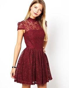burgundy prom skater dress - Google Search