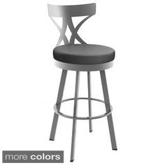Amisco Rawdon Screw Metal and Wood Stool | Overstock.com Shopping - The Best Deals on Bar Stools