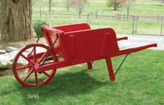 Antique wooden wheelbarrows add a feel of country ambiance to yards, gardens and home decor. These wooden wheelbarrows make beautiful indoor or outdoor displays. You can even equip them with a galvanized metal planter box.
