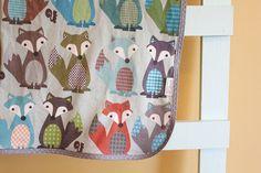 Foxy++fox+Organic+Interlock+Knit+Blanket+by+PETUNIAS+by+PETUNIAS,+$55.50
