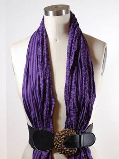 How to Tie a Belted Scarf | Scarves.net