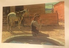 Duane Bryers Famed Western Artist 250 300 Edition Reflections Lithograph | eBay