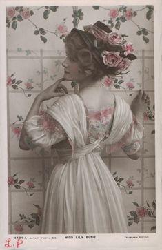 Sadness and classic art: vintage photograph