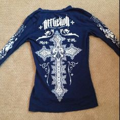 Long Sleeve Affliction Shirt w/ Rhinestone Detail Gorgeous detailed long sleeve Affliction shirt from Buckle! Affliction Tops