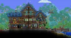Terraria House Design, Terraria House Ideas, Playstation, Xbox, Spaceship Concept, Skullgirls, Minecraft Ideas, Biomes, Minecraft Buildings