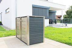 Mülltonnenbox 2er 120 Liter mit Kunststoff verkleidet