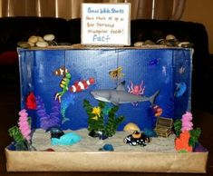 Shark diorama   kids school projects