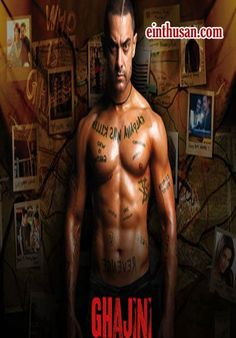 Ghajinii Hindi Movie Online - Aamir Khan, Asin Thottumkal and Jiah Khan. Directed by A. R. Murugadoss. Music by A. R. Rahman. 2008 [U/A] Blu Ray w.eng.subs