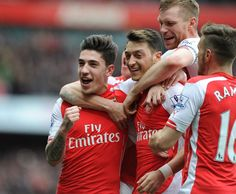 Bellerin scores the opener and what a goal it was, this kid is fast becoming a fan favorite - Arsenal v. Liverpool (4-1)
