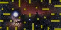 Nebulosa neodigitale II, 1999, olio su lino, cm 90 x 180.
