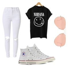 """""""Untitled #74"""" by purplepizza on Polyvore featuring Converse and Ray-Ban"""