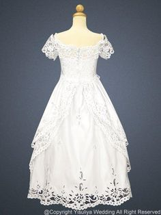 First Communion dress. If we ever get around to it. Yes, I know. I'm a lousy Catholic.