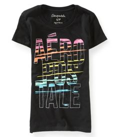 d05d496bb Stacked Aero Paint Graphic T - Aeropostale Hollister