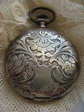 Art Nouveau 800 Silver Pocket Watch Silver Pocket Watch, Pocket Watch Antique, Antique Jewelry, Antique Silver, Old Pocket Watches, Old Clocks, Art Nouveau, Antiques, Pendant