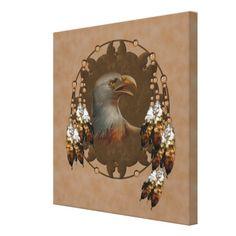 Eagle dream catcher ~ Native american canvas art.