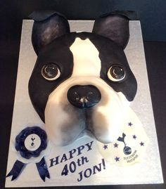 A 3D Boston Terrier Birthday Cake Terriers Puppy