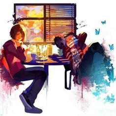 ( fan art ) Life is Strange | Max and Chloe in the Two Whales Diner