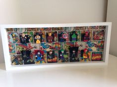lego minifigure display case - Marvel - No Figures Included