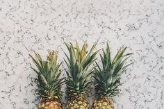 3 Pineapples  Marble  Flat lay download all images from this weeks free pineapple photo pack: Pineapple & Marble Photos.