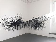 Monika Grzymala's Dynamic Installations Made of Sticky Tape   Hi-Fructose Magazine