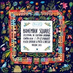 POSTER FOR BOHEMIAN SQUARE FESTIVAL - aitch