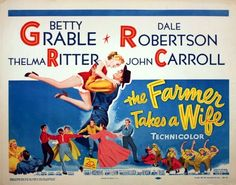 FARMER TAKES A WIFE - 1953 - orig rolled 22x28 movie poster - sexy BETTY GRABLE