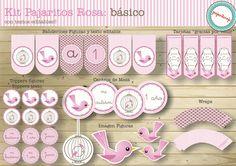 Cumpleaños Pajaritos:Ideal para bautismo, primer año y baby shower, este delicado kit con pajaritos rosa es perfecto para una fiesta muy delicada y romantica.