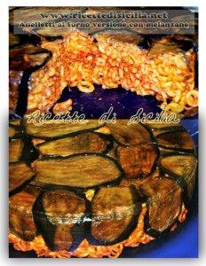 Ecco la sontuosa versione della pasta al forno con le melanzane fritte...non è un capolavoro????