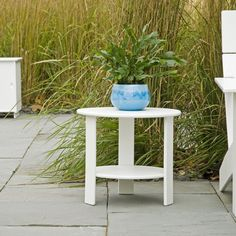 lollygagger modern side table stone patio
