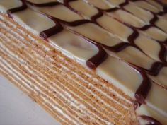 Фото Layered Desserts, Honey Cake, Russian Recipes, Dessert Bars, No Bake Cake, Cooking Time, Sweet Recipes, Food To Make, Cake Decorating