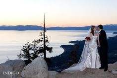 Wedding ceremony at Heavenly Resort in South Lake Tahoe, California. #mountainwedding