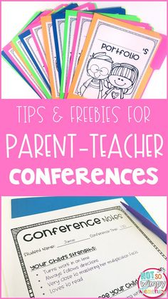 Parent conferences are tough! Check out these tips for easier parent-teacher conferences. Grab the free conference forms and student portfolio covers!