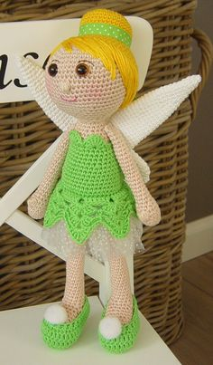Tinkerbell crochet pattern by DutchDollDesign on Etsy