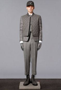 Thom Browne Fall/Winter 2014 Lookbook  #fashion #menswear #style
