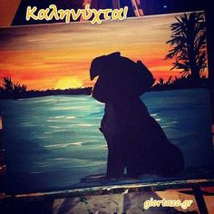 Dog Sunset Painting Silhouette by candenscanvas on Etsy ocean painting acrylic easy Dog Sunset Painting Silhouette von candenscanvas auf Etsy - Merys Stores Silhouette Painting, Canvas Silhouette, Bird Silhouette, Diy Canvas Art, Dog Canvas Painting, Canvas Ideas, Acrylic Art, Acrylic Paintings, Sunset Paintings