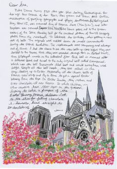 Gorgeous illustrations of Notre Dame, from Janice MacLeod's book PARIS LETTERS