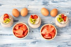 21 Day Fix Easy Meal Prep No Cook Breakfasts - Eggs, Watermelon, Overnight Oats Veggie Meal Prep, Easy Meal Prep, Healthy Meal Prep, Aldi Meal Plan, 21 Day Fix Meal Plan, Fixate Recipes, Healthy Eating Recipes, Cooking Recipes, 21 Day Fix Breakfast